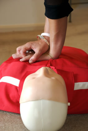 CPR on First Aid Dummy